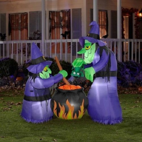 Halloween Witch Inflatable Airblown Outdoor Decoration Scary Party Prop Large 6'