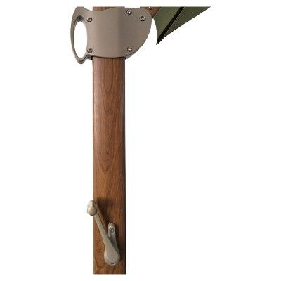 11' Offset Sunbrella Umbrella - Spectrum Cilantro - Medium Wood Finish - Smith & Hawken, Green