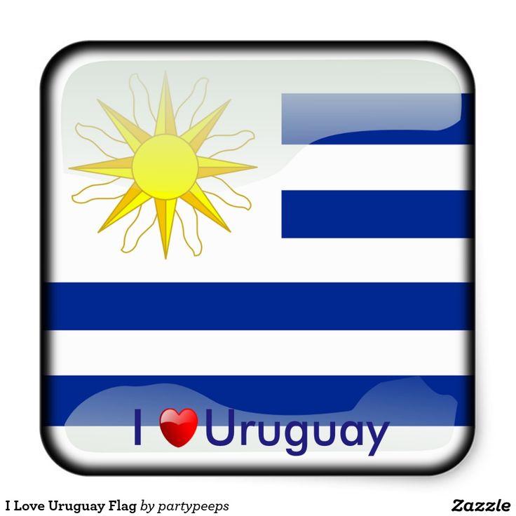 I love uruguay flag square sticker uruguay pinterest uruguay flag uruguay and flags