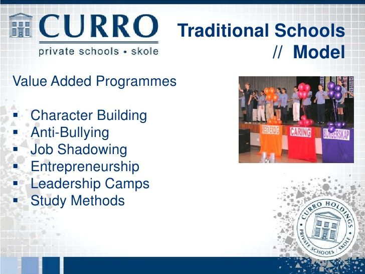 Traditional Schools                                      // ModelFriendly, safe Aftercare and HolidayCare Facilities.