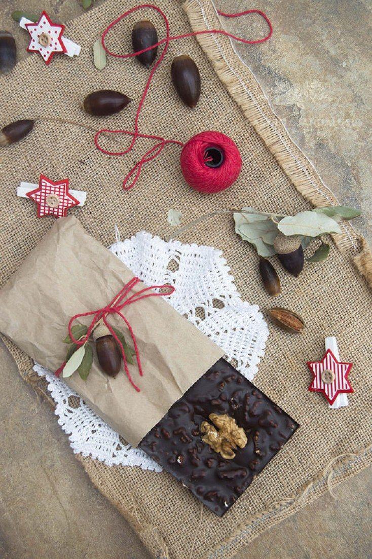Turrón con chocolate y nueces