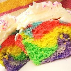 Rainbow Clown Cake: Rainbows Birthday, Rainbow Cakes, Rainbows Sponge, Rainbows Cakes, Rainbows Cupcakes, Rainbow Cupcakes, Sponge Cake Recipes, Birthday Cakes, Sponge Cakes Recipes