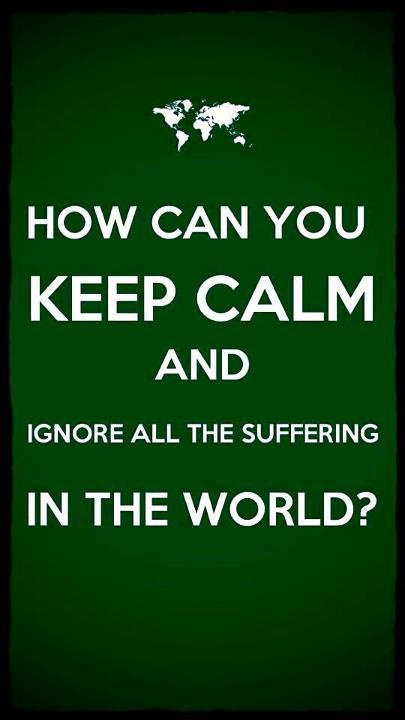 if you ignore all the suffering in the world, your ignorance is not bliss - it's arrogant stupidity`