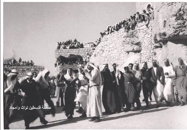 عرس فلسطيني ودبكة فلسطينية القدس، فلسطين ١٩٣٠ A Palestinian wedding and Palestinian dabkeh Jerusalem, Palestine 1930  Boda Palestina y el Dabkeh Palestino Jerusalén, Palestina 1930