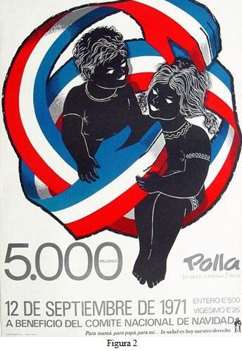 """Afiche Polla - Chile """"A beneficio del comité nacional de navidad""""  Me pareció interesante ya que utiliza un lenguaje distinto a los otros afiches chilenos."""