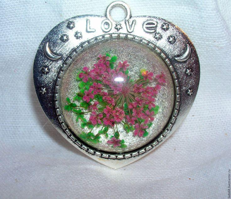 """Купить кулон """"Букет сирени""""( кулон, подвеска) - серебряный, подвеска, подвеска с цветами, кулон с цветами"""