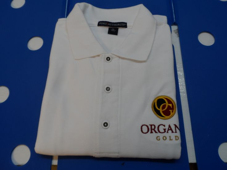 Organo Gold embroidered polo shirts.