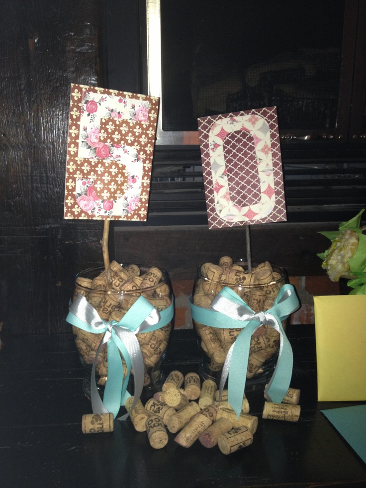 Vintage Vixon Themed 50th Birthday Party Hosted At A Winery DIY Decorations Vases