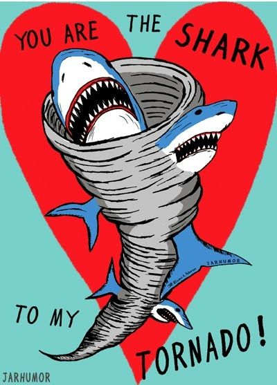 Popped Culture:  You Are The Shark To My Tornado pop art valentine for Sharknado movie