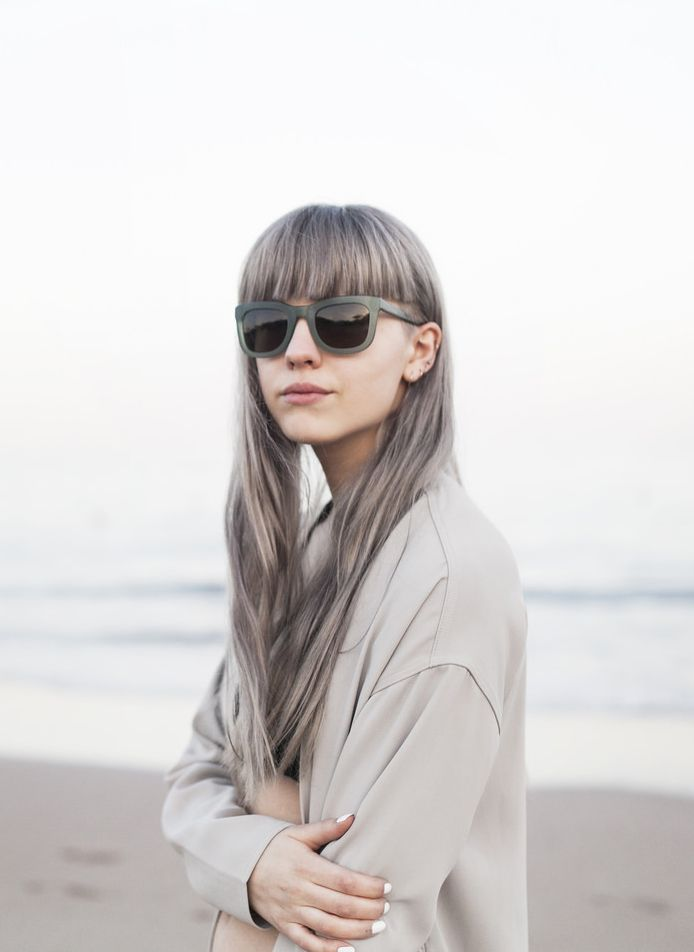 KAIBOSH | Frida Vega wears CHIPS & SALSA sunglasses in GREYED JADE