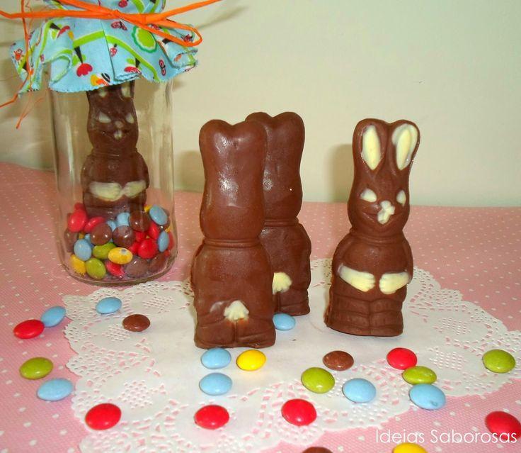 Coelhos de Páscoa em Chocolate