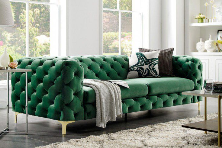 Sofa Barocco Zielony Aksamit 240 Living Room Sofa Design Modern Living Room Interior Living Room Colors