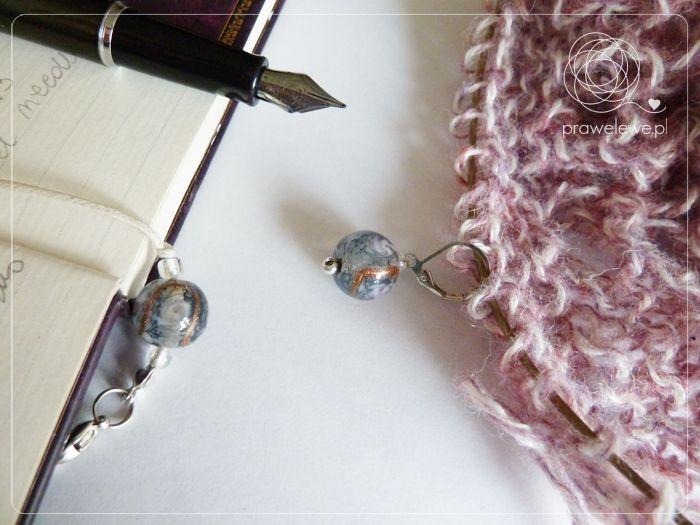 3 in 1 MAK set called Crystal Soul being used to knit my Aster Cowl. {www.prawelewe.pl}