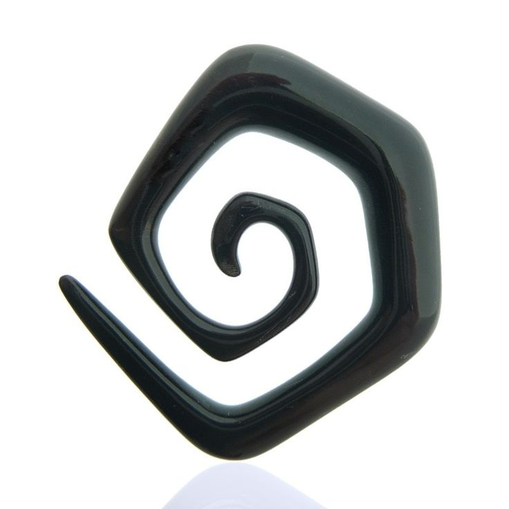 Ecarteur spirale pour le lobe de l'oreille en corne de buffle véritable.