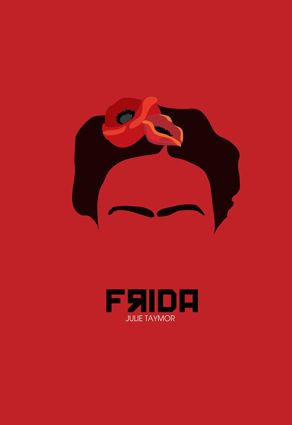 Frida (2002) ~ Minimal Movie Poster by Zoki Cardula #amusementphile