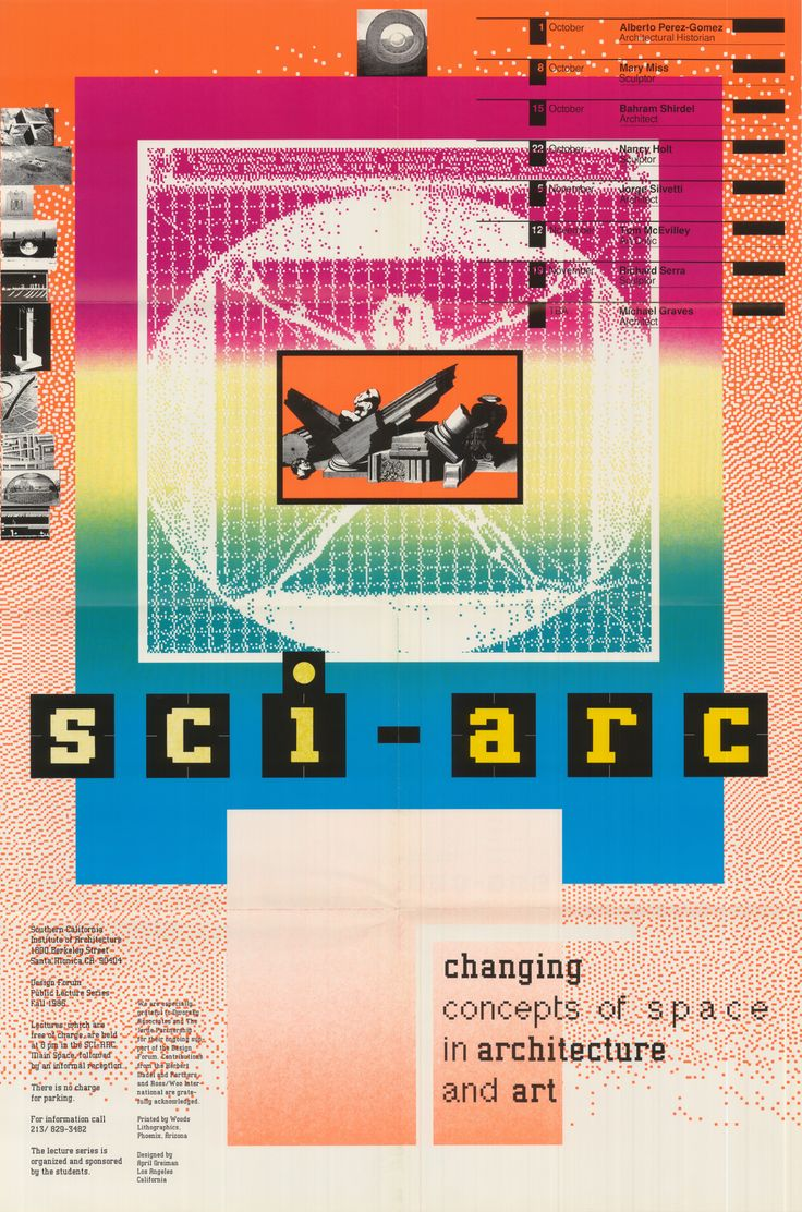 Poster for the fall 1986 lecture series, Changing concepts ...