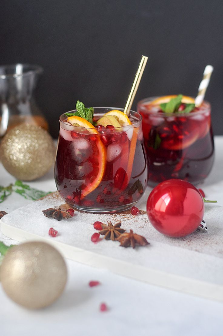 Holiday-Spiced Winter Sangria