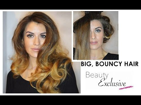 How to get Big Volumous Hair using Babyliss Big hair blow dry and Pin curls by Beauty Exclusive - YouTube