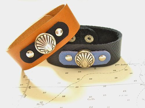 Camino de Santiago scallop shell cuff bracelet, £24.50