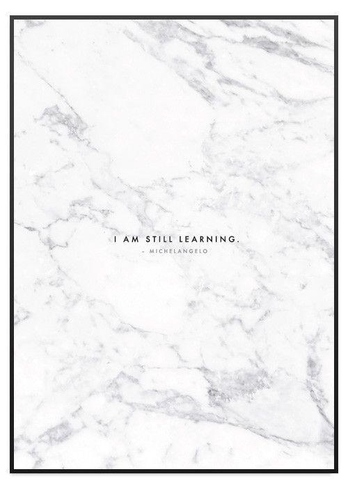 Poster Store I am still learning marmor tavla