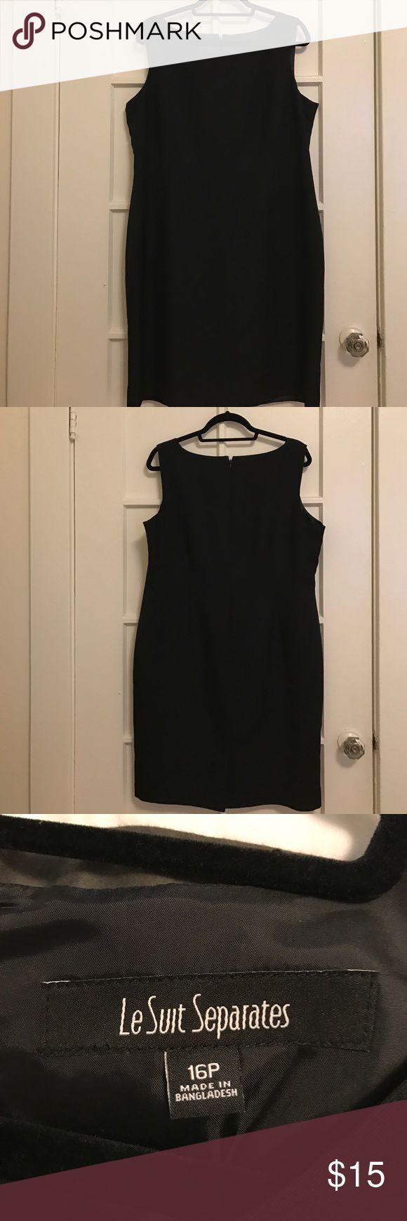 Black Shift Dress - Le Suit Separates Black Shift Dress good for work or formal wear. Le Suit Dresses