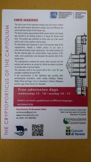 Sito archeologico Corte Sgarzerie - Verona - 27/07/2014