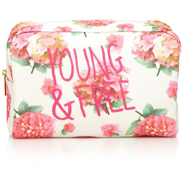 Forever 21 Forever 21 Floral Print Cosmetic Case ($8.90) ❤ liked on Polyvore featuring beauty products, beauty accessories, bags & cases, bags, makeup, beauty, accessories, makeup bags, travel toiletry bag and travel make up bag