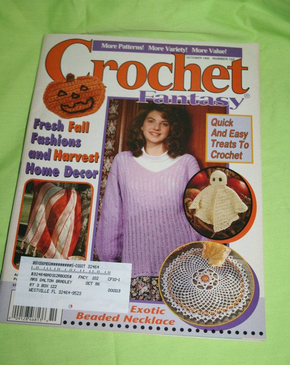 Crochet Fantasy Magazine : Fall Halloween Crochet Fantasy Magazine 1995 Harvest by Aurelas, $3.00