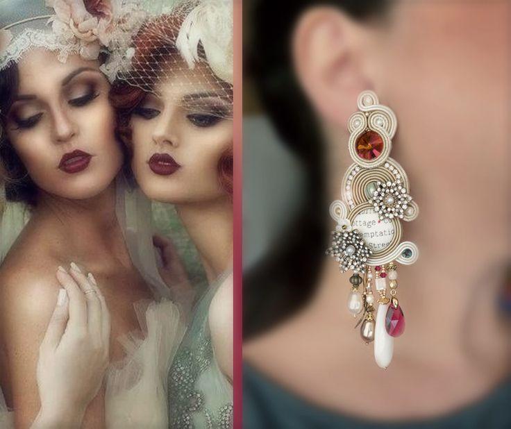 """Zelda"" Soutache earring by SERENA DI MERCIONE - #zelda #fitzgerald"