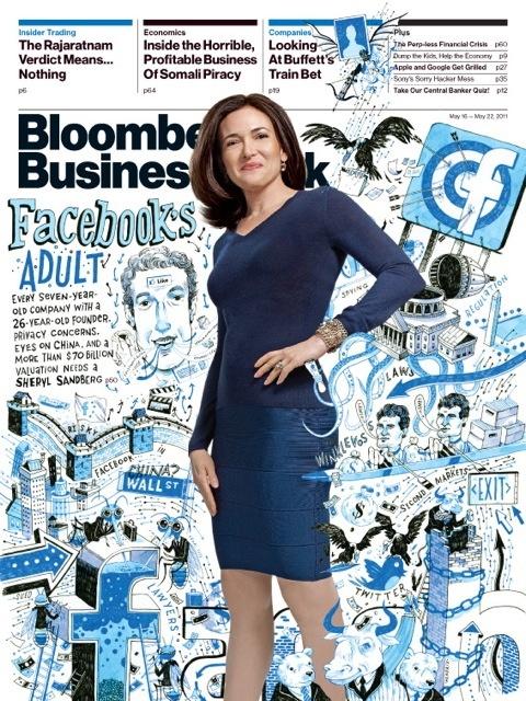 Sheryl Sandberg on the cover of Bloomberg Business Week