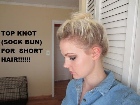 Finally! A tutorial on how to do a top knot for short (jaw/chin-length) hair!!