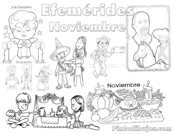 Efem rides noviembre material imprimible pinterest for Diario mural en ingles