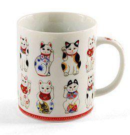 Maneki-neko Lucky Cat Mug From Japan