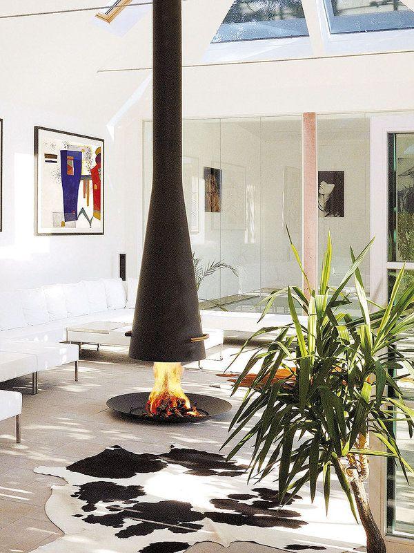 17 mejores ideas sobre chimeneas modernas en pinterest for Chimeneas en apartamentos pequenos