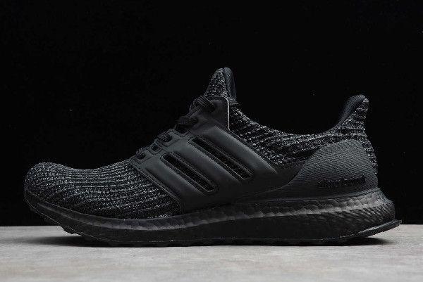 2020 Men Adidas Ultra Boost 4 0 Triple Black For Wholesale