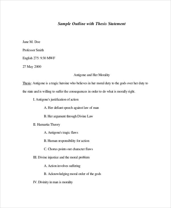 Pdf Doc Free Premium Templates Speech Outline Essay Outline Template Essay Outline
