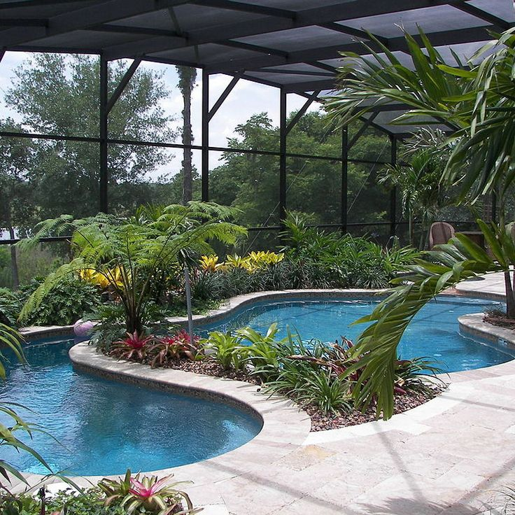 Landscaped Backyards With Pools: 1118 Best Images About Swimming Pool Waterfall / Slides On