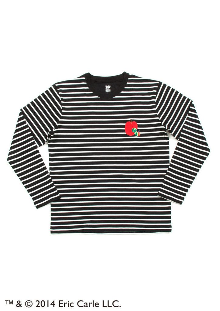 Red Apple Embroidery (Eric Carle Long Sleeve Tee) – Design Tshirts Store graniph