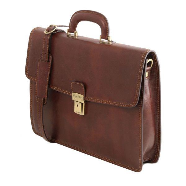 Amalfi - Leather briefcase 1 compartment