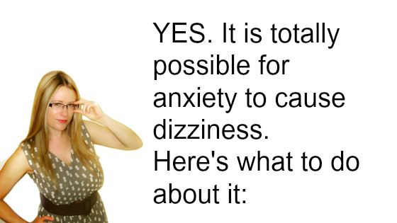 Could anxiety cause dizziness?