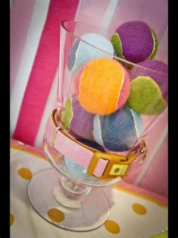 Ball party favors.....Cute for a doggie party