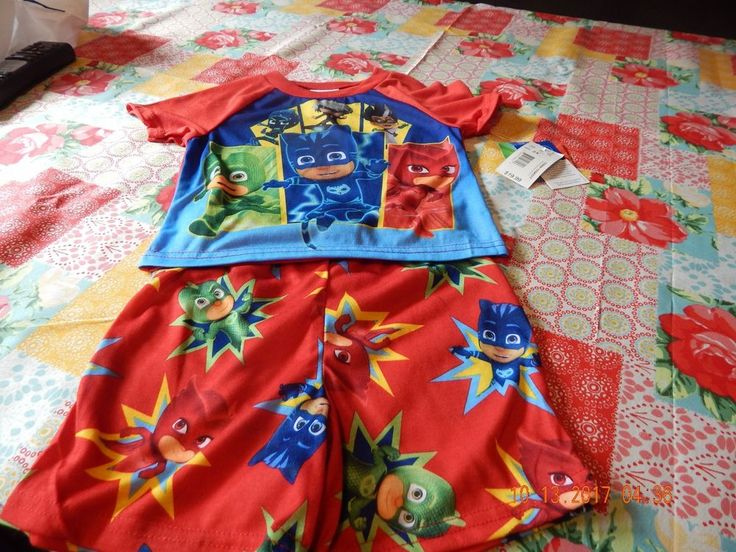 Disney, Boys 2T PJ Masks 2 Piece Pajama Short Set (Brand New) #Disney #TwoPiece