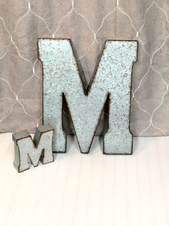 Large Metal Letter/20 inch Metal Letter/Wall by TheShabbyStore