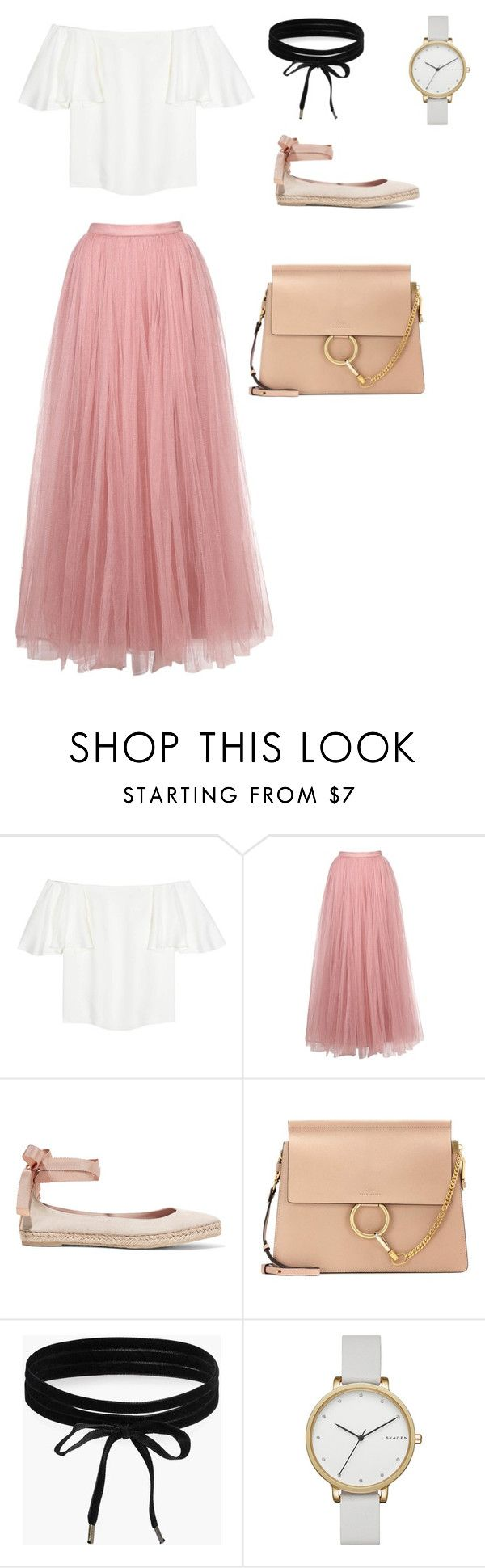 """""""Oh summer ! 💜"""" by joe-khulan on Polyvore featuring Valentino, Little Mistress, AERIN, Chloé, Boohoo and Skagen"""