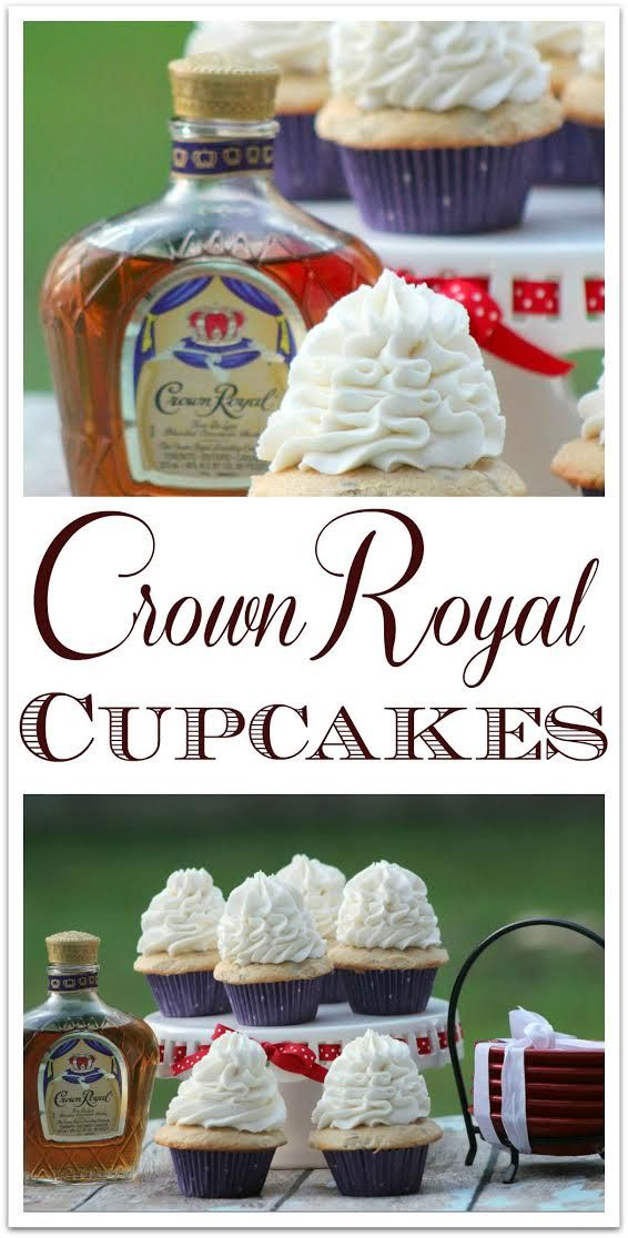 These delicious Crown Royal Cupcakes are the perfect dessert for your adult party! The flavor of the Crown Royal is subtle, with a hint of vanilla and fruit. The next time you need a recipe for something special to bring to a party, try this amazing sweet treat!