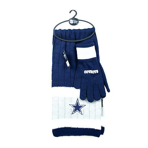ONE BEAUTIFUL DALLAS COWBOYS GLOVE AND SCARF SET FROM LITTLE EARTH #LittleEarth #DallasCowboys