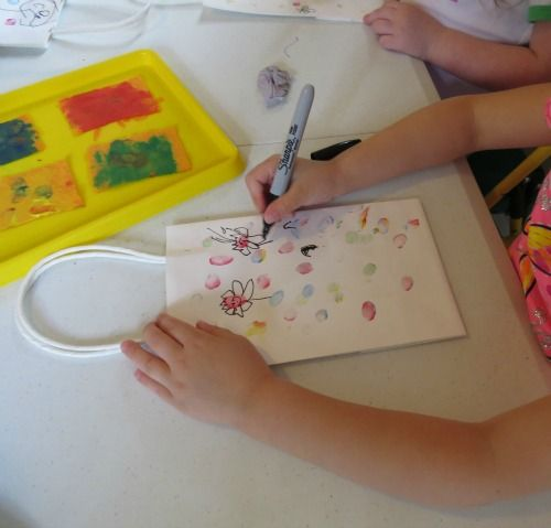 DIY Fingerprint Paint Pads by Teach Preschool