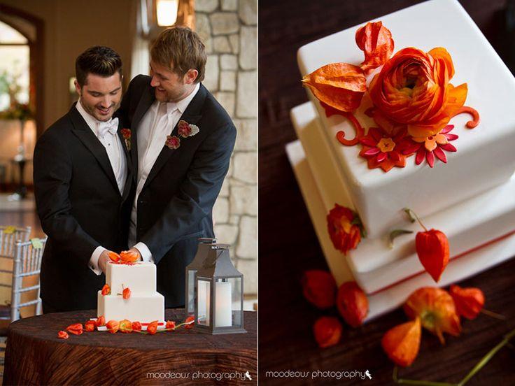 Tangerine Tango Wedding Cake, Gay wedding, Moodeous Photography, Intricate Icings