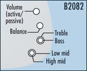 TCM 4XM incl. 1 volume (push-pull)/ 1 balance/ 1 conc. b./tr./ 1 conc. low mid/high mid B2082