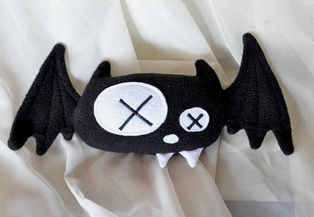 Dead Bat Plush - Final Version by Suzannah Ashley, via Flickr